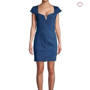 NWT Free People Lia Denim Mini Dress